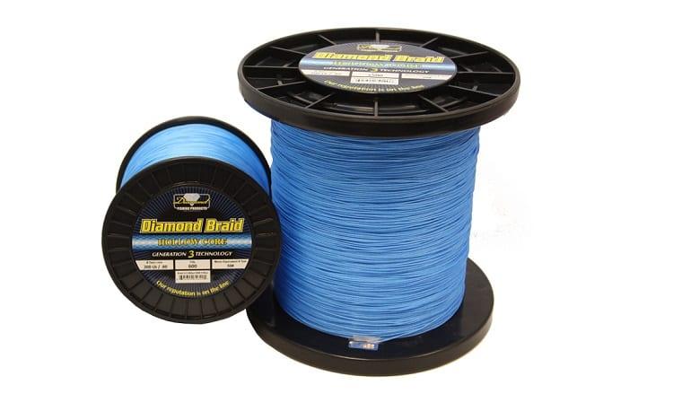 blue fishing line