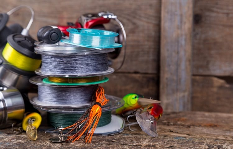 fishing lines and flies