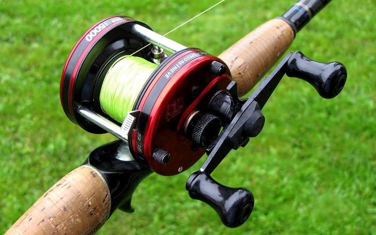 new baitcast reel on rod