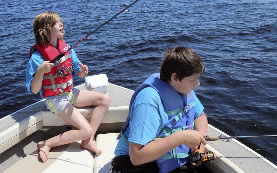 Boat Fishing Kid