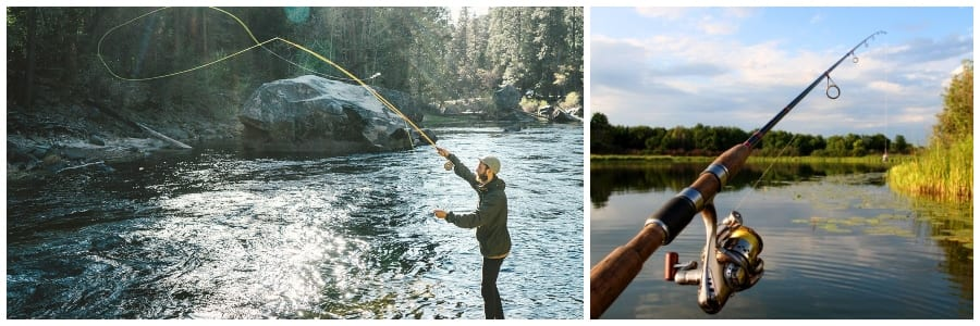 Spinfishing vs Flyfishing