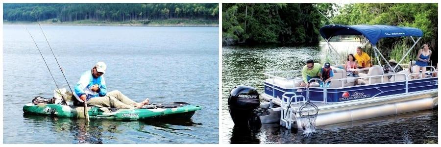 Kayak and Pontoons