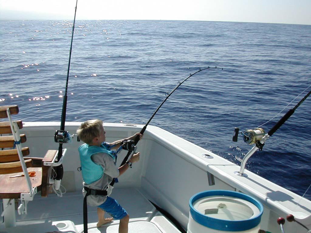 Kids picking spots for fishing