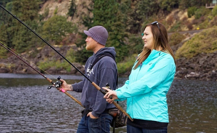 fishing with different rod types