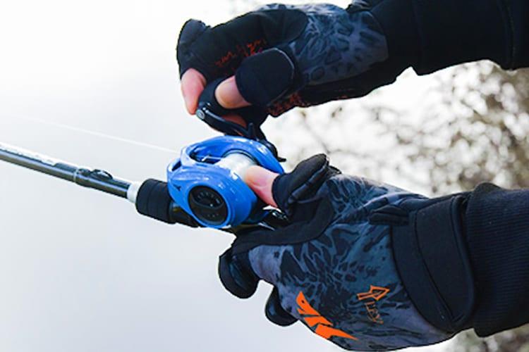 Fishing Wearing Gloves