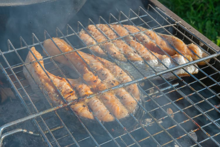 Fry Up That Fresh Catch Over Your Campfire With a Fish Grill Basket 2